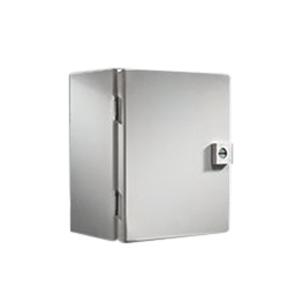 Rittal JB121206HC JB Series Junction Box; Carbon Steel, Light Gray (RAL 7035), Hinge Cover