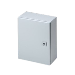 Rittal WM161206NC WM Series Single Door Enclosure; Carbon Steel, Light Gray, Hinge Cover, Wall Mount