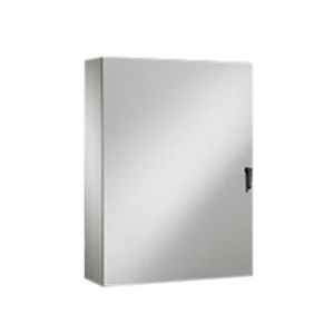 Rittal WM483610NC WM Series Enclosure; Carbon Steel, Light Gray, Hinge Cover, Wall Mount