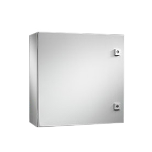 Rittal WM302412NC WM Series Single Door Enclosure; Carbon Steel, Light Gray, Hinge Cover, Wall Mount