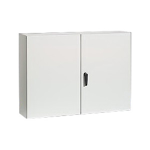 Rittal WM484812NC WM Series Enclosure; Carbon Steel, Light Gray, Hinge Cover, Wall Mount