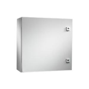 Rittal WM303010NC WM Series Enclosure; Carbon Steel, Light Gray, Hinge Cover, Wall Mount