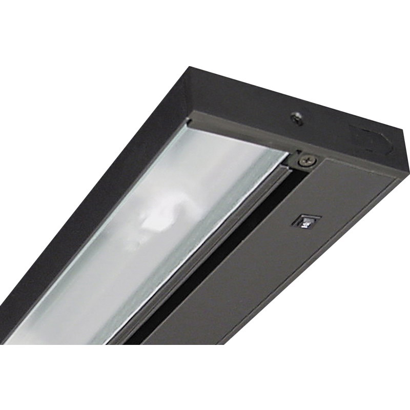Juno Lighting ULH109-BL 1-Light Halogen Pro-Series Under-Cabinet Light Fixture 20 Watt  12 Volt  Black  Lamp Included