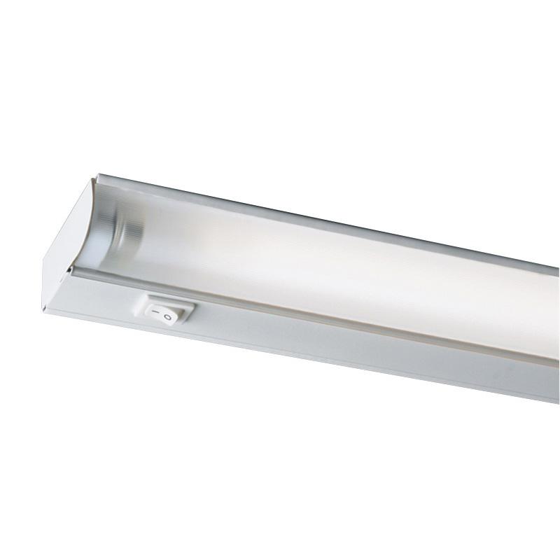 Juno Lighting UFL46-WH 1-Light Fluorescent Under-Cabinet Light Fixture; 28 Watt, T5, 120 Volt, Appliance White, Lamp Included