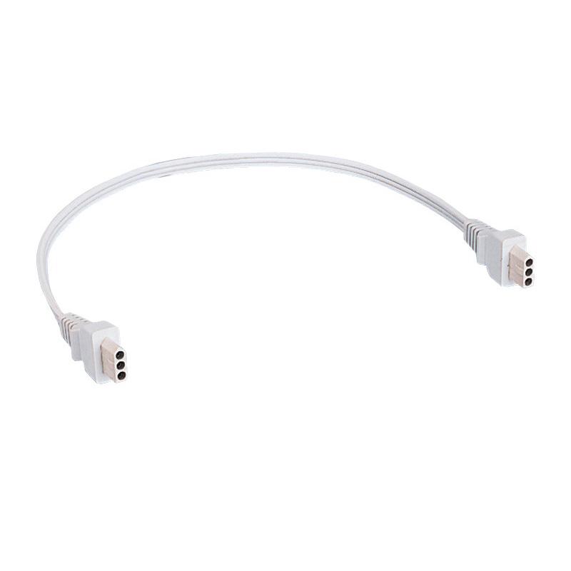 Juno Lighting JC3-8-WH 3-Wire Jumper Cord; Designer White, For ProHalogen Under-Cabinet Light