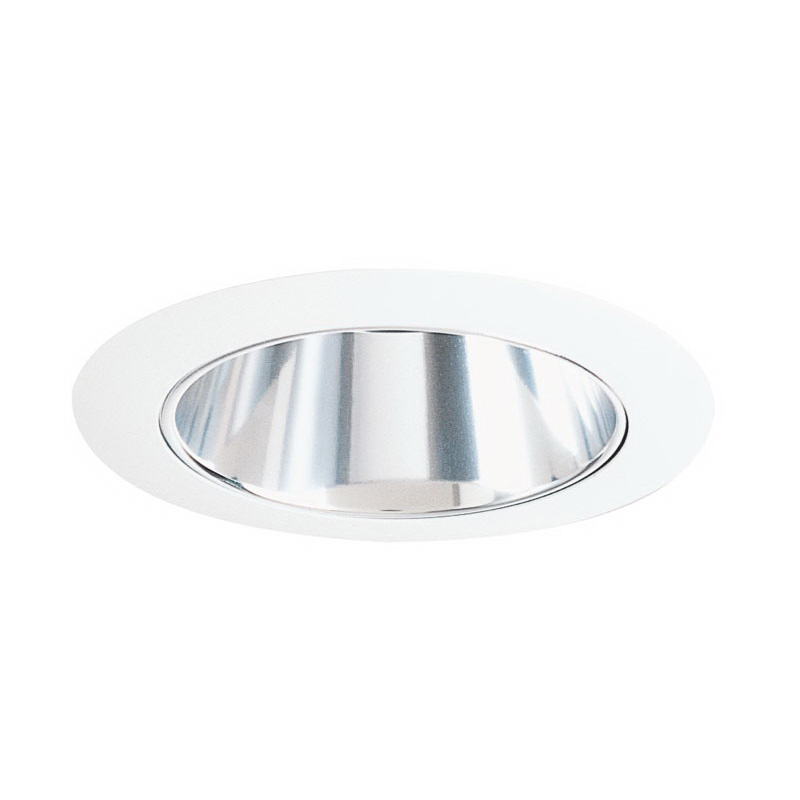 Juno Lighting 17C-WH IC 4 Inch Cone Trim With Clear Alzak® Reflector; White