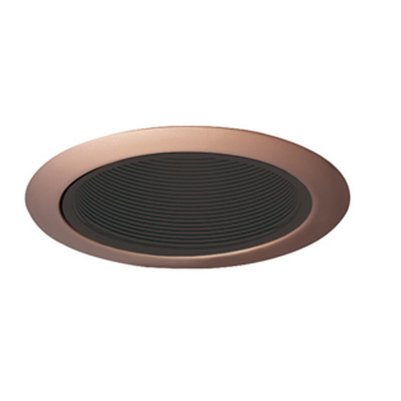 Juno Lighting 205B-ABZ Recessed Lighting IC 5 Inch Downlight Trim With Black Baffle; Classic Aged Bronze