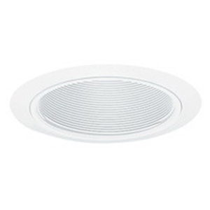 Juno Lighting V2015W-WH 5 Inch Value Cone Trim With Black Baffle; White