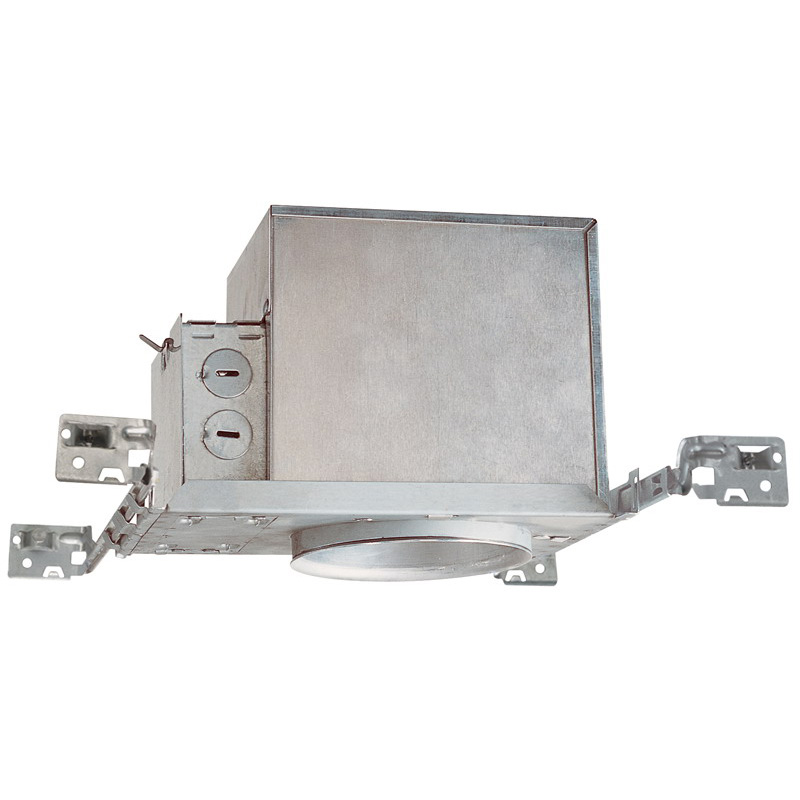 Juno Lighting IC1W Air-Loc® Air-Tite® IC Compact 4 Inch Incandescent Housing; Black Baffle & White Trim