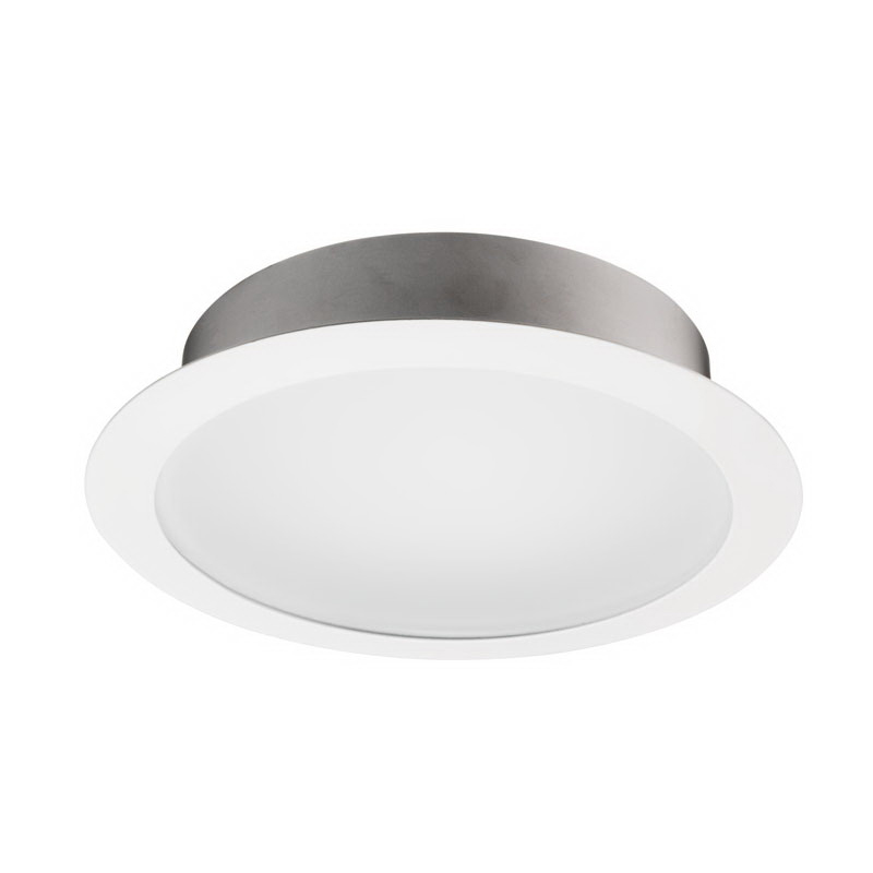 Juno Lighting 239-WH 6 Inch Frosted Lens Trim with Reflector; Frosted Lens, Insulated Ceiling