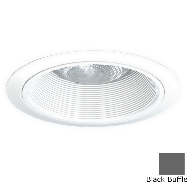 Juno Lighting V3034TB-WH 6 Inch Full Trim With Black Baffle; White