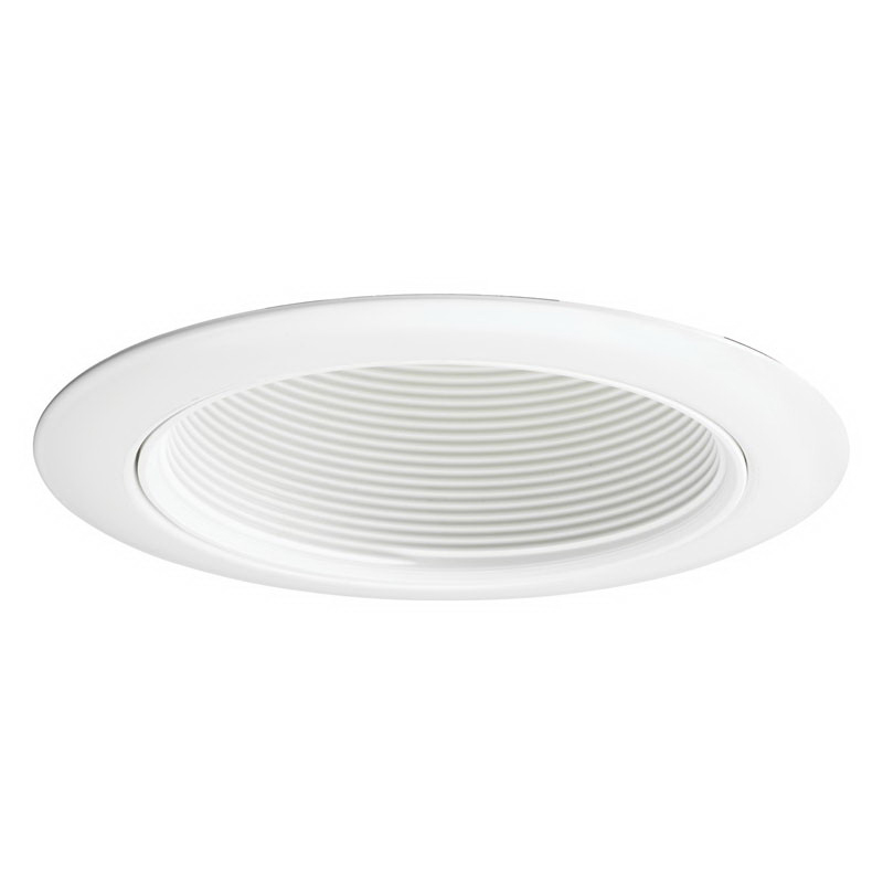 Juno Lighting 14W-WH IC and Non-IC 4 Inch Baffle Trim; White