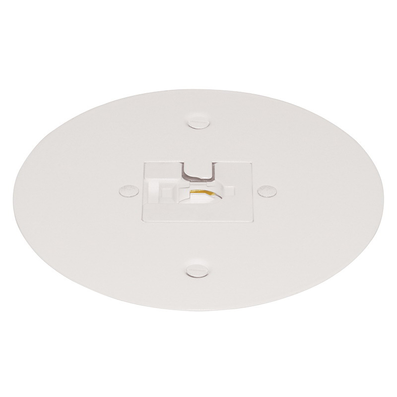Juno Lighting T40F-WH Trac-Master® Flush Mount Monopoint Adapter; 5-1/4 Inch, White
