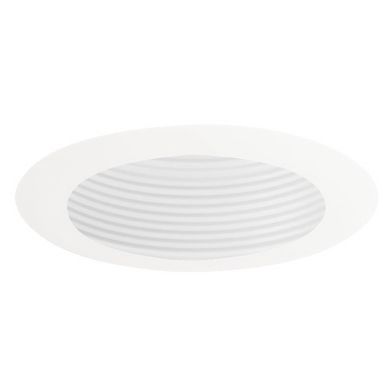 Juno Lighting 444W-WH IC and Non-IC Low Voltage 4 Inch Adjustable Baffle Downlight Trim; White