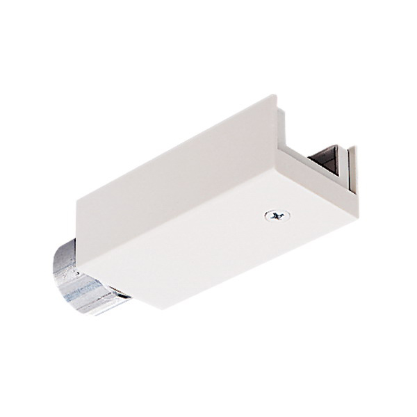 Juno Lighting TL34WH End Feed Connector; Track To Conduit Connection, White