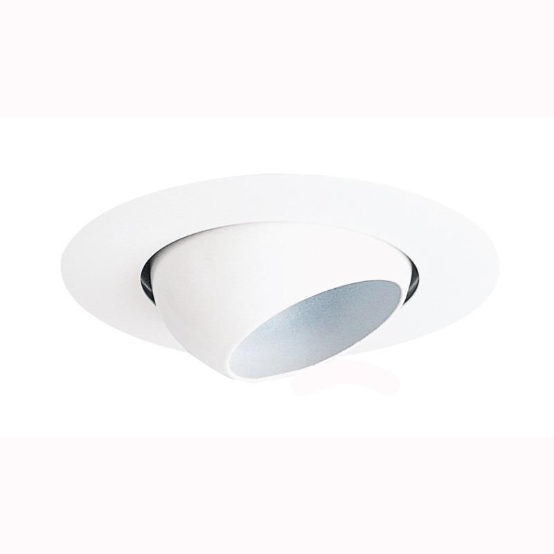 Juno Lighting 18-WH IC Recessed Lighting 4 Inch Adjustable Mini Eyeball Trim; White