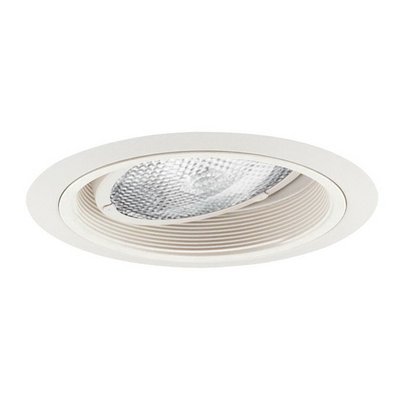 Juno Lighting 224W-WH 6 Inch Trim with Adjustable Gimbal Ring and White Baffle; Insulated Ceiling