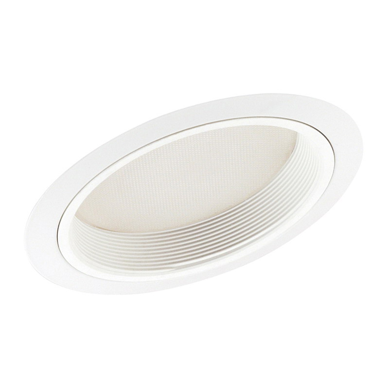 Juno Lighting 610W-WH IC Line Voltage 6 Inch Standard Slope Shower Trim; White, Insulated Ceiling