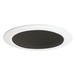 Juno Lighting 14B-WH IC and Non-IC 4 Inch Trim With Black Baffle; White