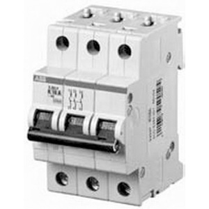 ABB S203P-K10 System Pro M compact® Supplementary Protector; 10 Amp, 480Y/277 Volt AC, 3-Pole, DIN Rail Mount