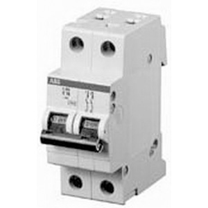 ABB S202-K2 System Pro M compact® Supplementary Protector; 2 Amp, 480Y/277 Volt AC, 2-Pole, DIN Rail Mount