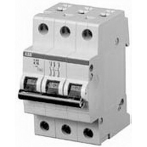ABB S203-K5 System Pro M compact® Supplementary Protector; 5 Amp, 480Y/277 Volt AC, 3-Pole, DIN Rail Mount