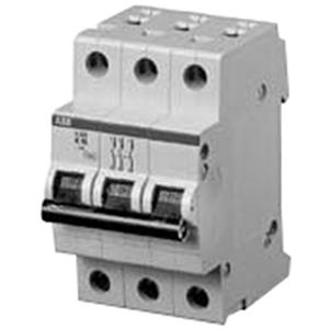 ABB S203-K15 System Pro M compact® Supplementary Protector; 15 Amp, 480Y/277 Volt AC, 3-Pole, DIN Rail Mount