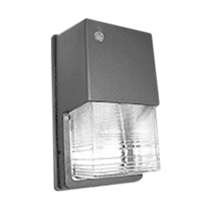 NSI WPGC100MHQ 1-Light Metal Halide Mini Wall Pack; 100 Watt, Brown, Lamp Included