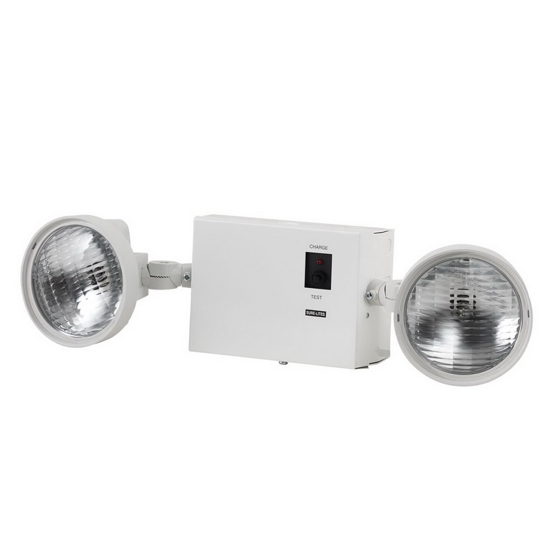 Cooper Lighting LM1 Sure-Lites Universal Mount Double Head Emergency Lighting; Incandescent, White