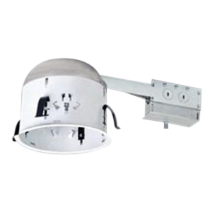 Cooper Lighting H27RT Halo® 1-Light Shallow 6 Inch Recessed Housing; 20 Gauge Cold-Rolled Steel, Non-Insulated Ceiling