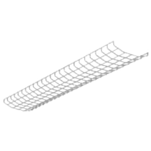 Cooper Lighting WG/SSF-4FT-B Metalux® Wire Guard; White, For Standard T8 Flip Strip Fixture