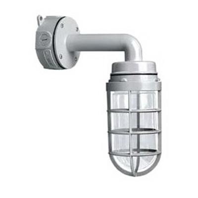 Cooper LightingICVW1G Lumark® 1-Light Wall With 4 Inch Round/Octagonal J-Box Mount Incandescent Vaporproof Light Fixture; 200 Watt, Gray