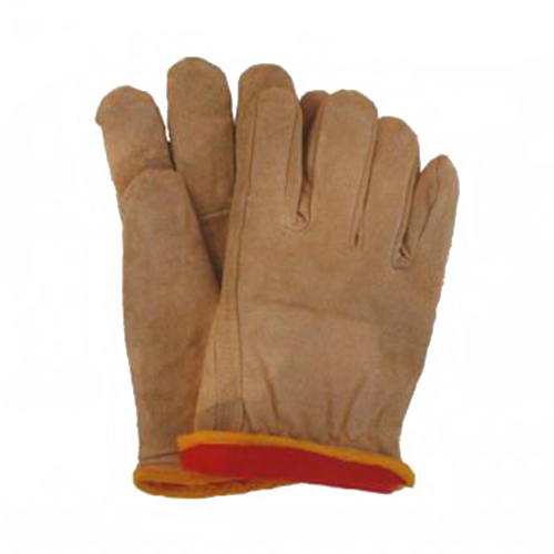 Ebinger L665L Safety Work Gloves; Large, Leather