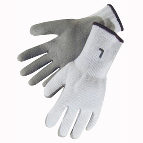 Ebinger 4739L Latex Gripper Safety Work Gloves; Large, Gray