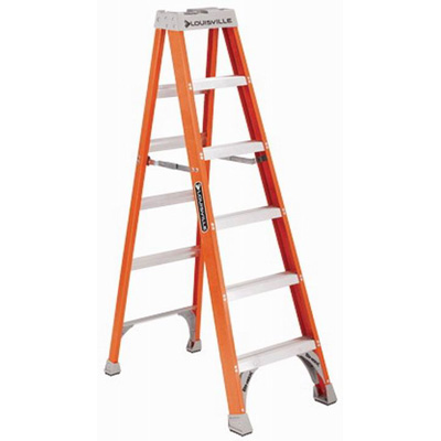 Louisville FS1506 FS1500 Series Extra Heavy-Duty Type IA Step Ladder; 6 ft, 300 lb, Fiberglass