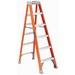 Louisville FS1506 FS1500 Series Extra Heavy-Duty Type IA Step Ladder; 6 ft, 300 lb, Fiberglass