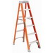 Louisville FS1508 FS1500 Series Extra Heavy-Duty Type IA Step Ladder; 8 ft, 300 lb, Fiberglass