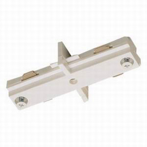 Nora NT-310W Seamless 1-Circuit Straight Connector; White