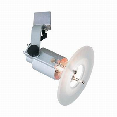 """""Nora NTH-616S Copernicus 1-Light H-Style Halogen European Glass Disc Face Track Fixture 50 Watt, Silver, lamp Included,"""""" 93278"