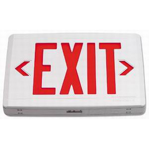 Philips Day-Brite CXXL1RW CXX Series Specification Grade LED Exit Sign; Single, Red Letter, White Housing