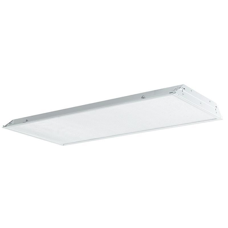 Philips Day-Brite 2TG843201UNV-1/4-EB-F1-LPT735 4-Light TG8 Fluorescent Lensed Troffer; 32 Watt, White, Lamp Included