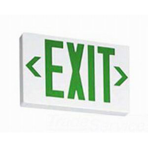 Lithonia Lighting / Acuity EXR-EL-M6 Self Powered LED Emergency Exit Sign With Backup Battery; White Housing, Red Letter