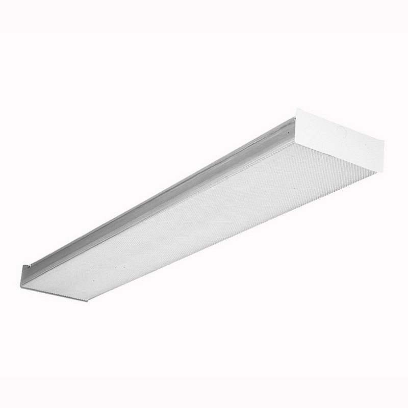 Lithonia Lighting / Acuity RB232 2-Light Surface Mount RB Series Fluorescent Square-Basket Wraparound Fixture; 32 Watt, White, Lamp Not Included