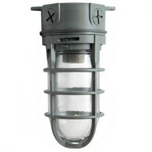 Lithonia Lighting / Acuity VC150I-M12 1-Light Ceiling Mount Incandescent Utility Vapor Tight Light Fixture; 150 Watt, Gray, Lamp Not Included