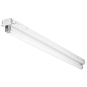 Lithonia Lighting / Acuity S120 1-Light Row Installations/Surface/Suspended Mount S Series Narrow Fluorescent Striplight Fixture; 20 Watt, White, 24 Inch Length, Lamp Not Included