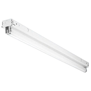 Lithonia Lighting / Acuity S140 1-Light Row Installations/Surface/Suspended Mount S Series Narrow Fluorescent Striplight Fixture; 40 Watt, White, 48 Inch Length, Lamp Not Included