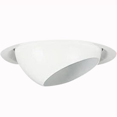 Lithonia Lighting / Acuity CE1-R6 Narrow Flanged 6 Inch Eyeball Trim; Aluminum Housing, Thermoplastic Frame, Insulated Ceiling