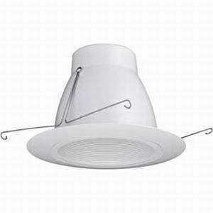 Lithonia Lighting / Acuity 6B1W-R6 Wide Flanged 6 Inch Premium Baffle Full Reflector Trim; Aluminum