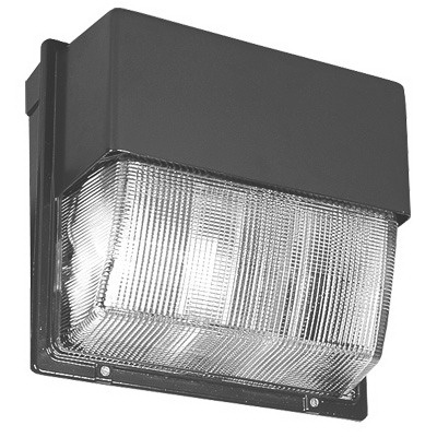 Lithonia Lighting / Acuity TWH-400M-TB-SCWA-LPI 1-Light Vertical Surface Mount Metal Halide Wall Pack; 400 Watt, Dark Bronze, Lamp Included
