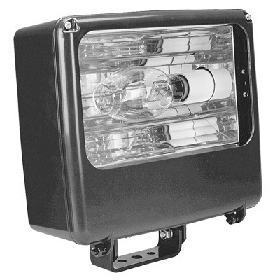 Lithonia Lighting / Acuity TFL-400M-RA2-TB-SCWA-LPI Contour® Medium 1-Light In-ground/Pole/Wall/Yoke Mount Metal Halide Flood Light; 400 Watt, Dark Bronze